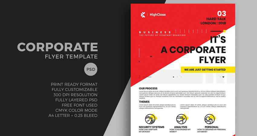 Bold Corporate Flyer Template Photoshop PSD