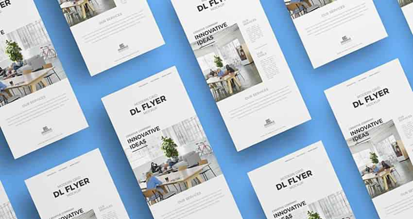 Modern Grid Business Flyer Template Photoshop PSD