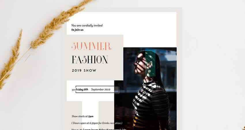 Minimal Fashion Flyer Template Photoshop PSD