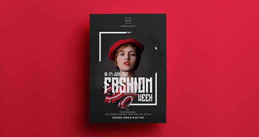 Fashion Event Flyer Template Photoshop PSD