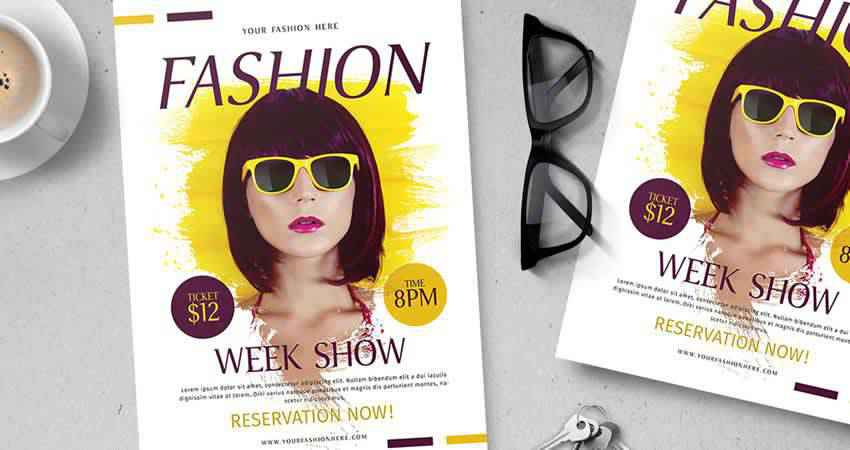 Fashion Week Show Flyer Template Photoshop PSD