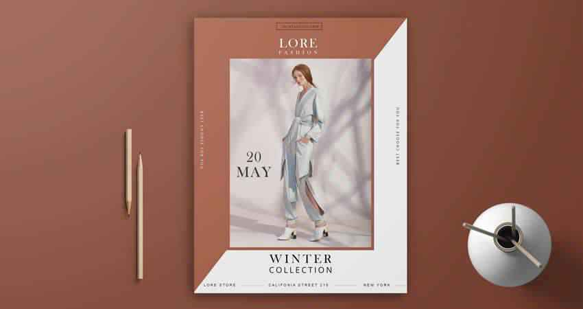 Fashion Collection Flyer Template Photoshop PSD