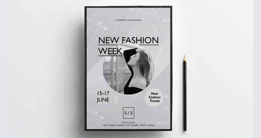 Fashion Week Flyer Template Photoshop PSD