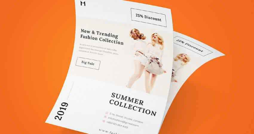 Free Fashion Flyer Template Photoshop PSD