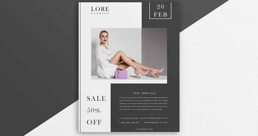 Creative Fashion Flyer Template Photoshop PSD