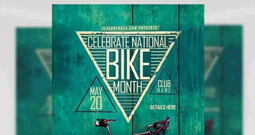 Biking Month Flyer Template Photoshop PSD