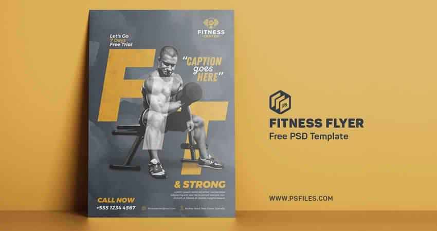 Fitness Body Builder Flyer Template Photoshop PSD