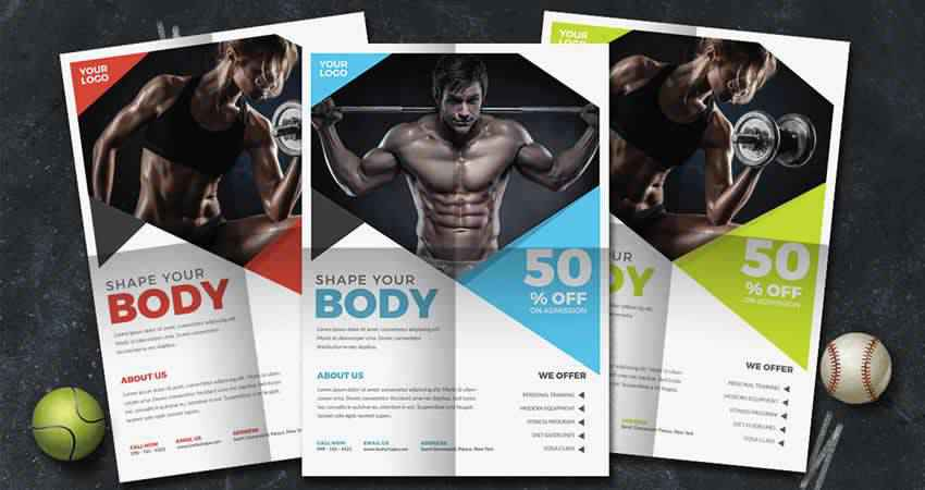 Bodybuilding Fitness Flyer Template Photoshop PSD