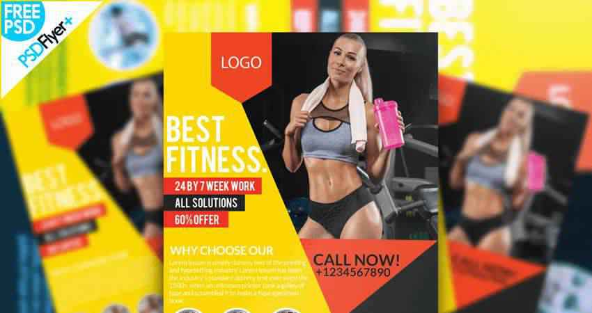 Fitness Flyer Template Photoshop PSD