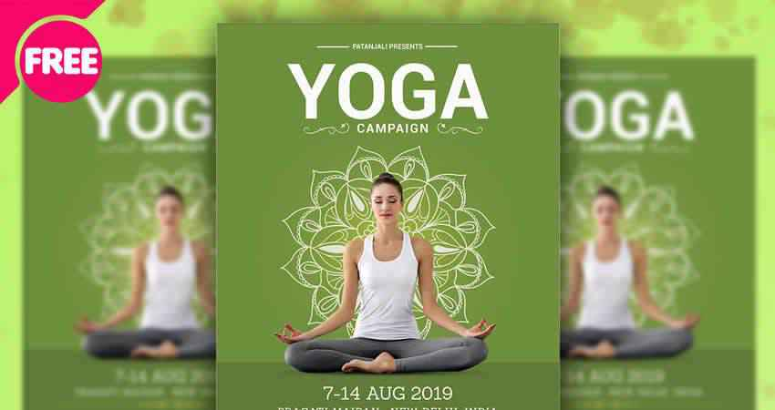 Yoga Campaign Flyer Template Photoshop PSD