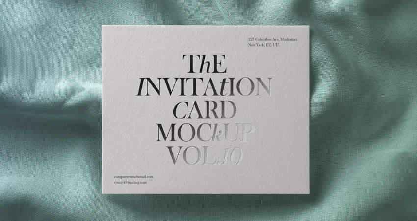 Stylish Invitation Card Mockup Template Photoshop PSD