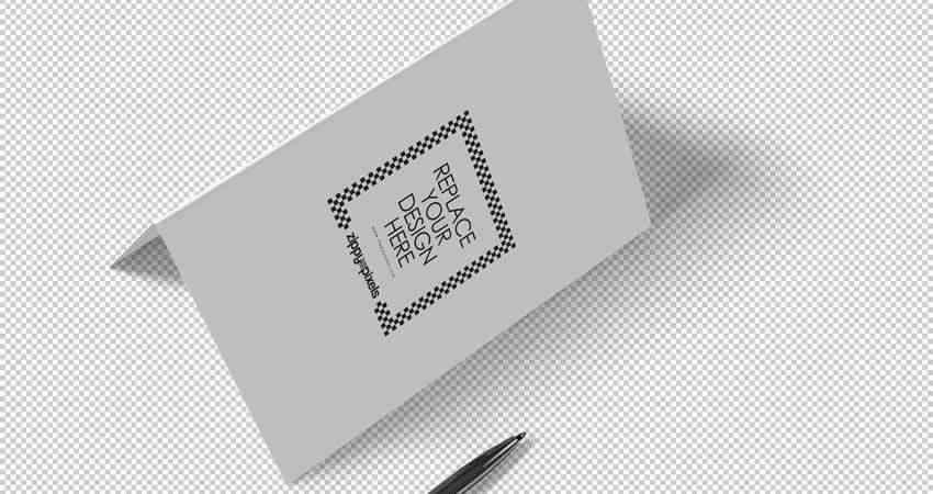 Stylish Invitation Card Mockup Photoshop PSD