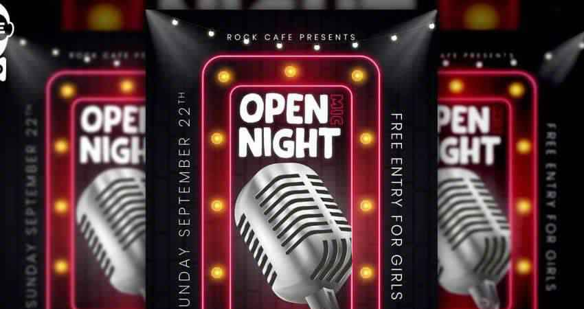 Open Mic Night Flyer Template Photoshop PSD