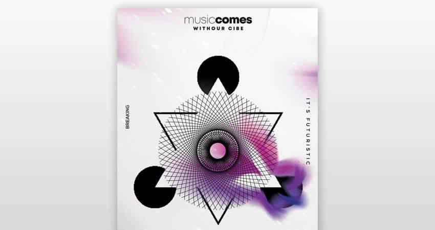 Geometric Festival Flyer Template Photoshop PSD