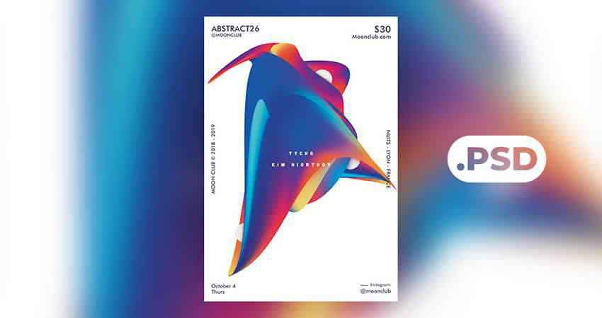 Abstract Club Flyer Template Photoshop PSD
