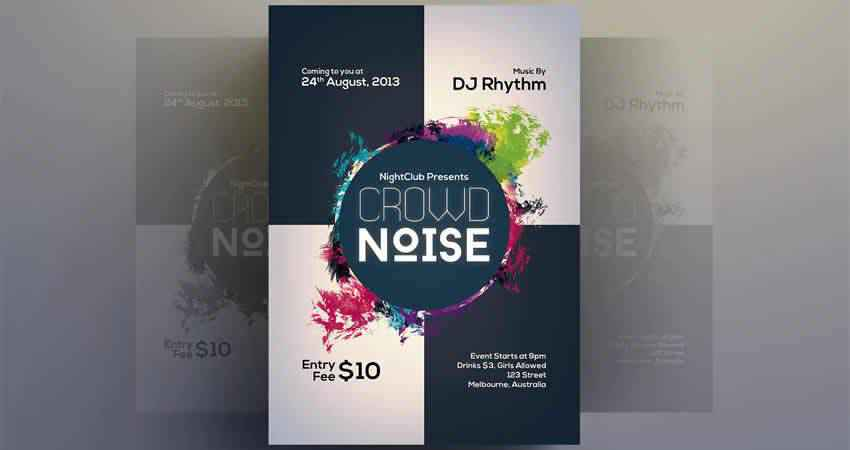 Party Flyer Template Photoshop PSD