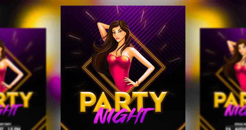 Party Night Flyer Template Photoshop PSD