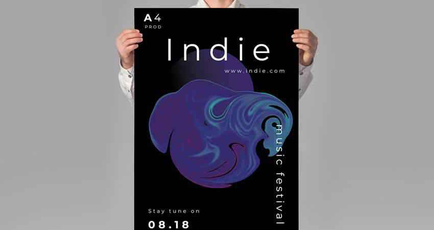 Indie Music Party Flyer Template Photoshop PSD