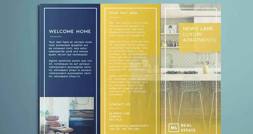 Tri-Fold Real Estate Flyer/Brochure Template Indesign