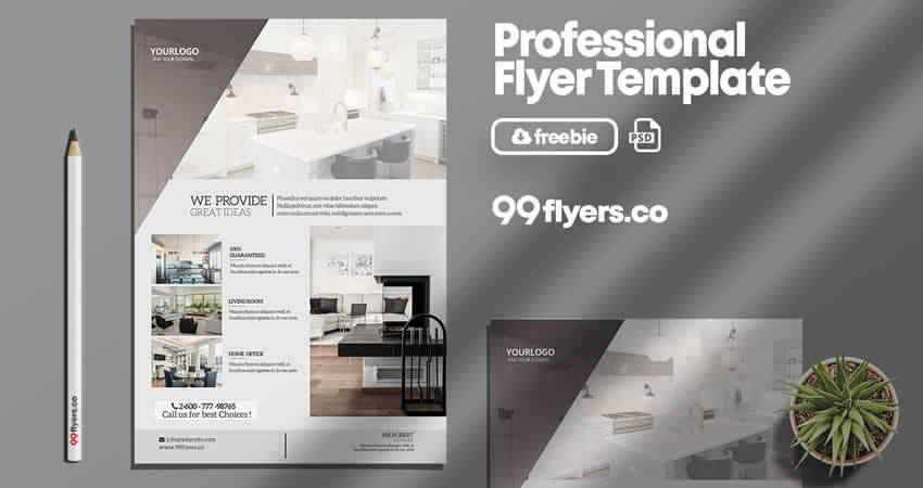 Professional Real Estate Flyer Template Photoshop PSD