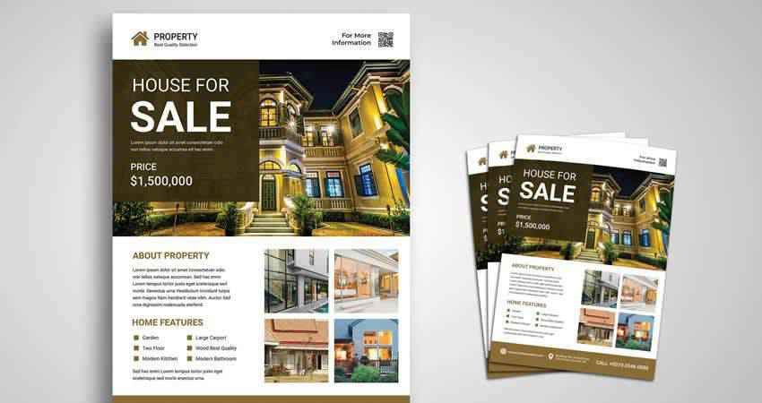 Property for Sale Flyer Template Photoshop PSD