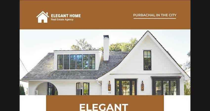 Elegant Real Estate Flyer Design Template Illustrator EPS
