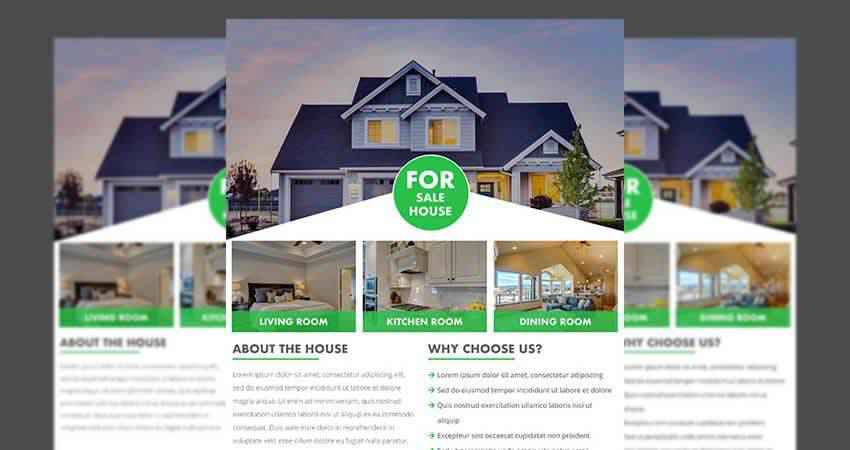 Real Estate Flyer Template Photoshop PSD