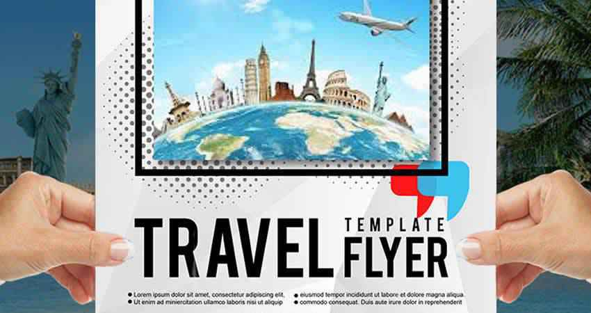Free Travel Magazine & Flyer Design Template Photoshop PSD