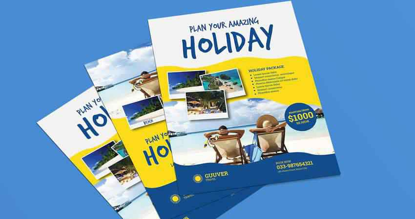 Plan Your Holiday Travel Flyer Template Photoshop PSD AI