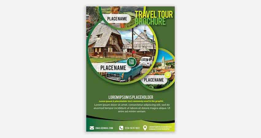 Travel & Touring Flyer Template AI