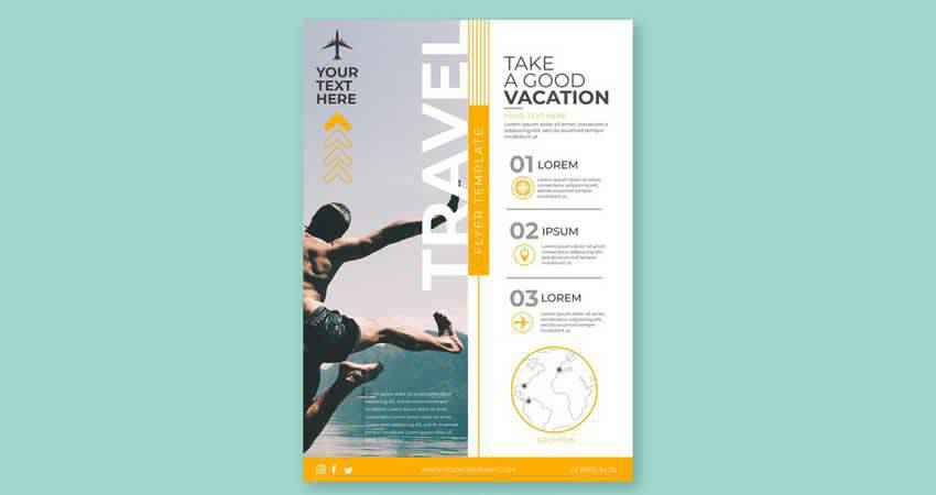 Good Vaction Vector Flyer Template Illustrator EPS