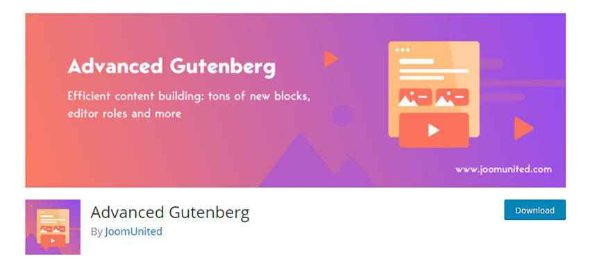 Banner for Advanced Gutenberg