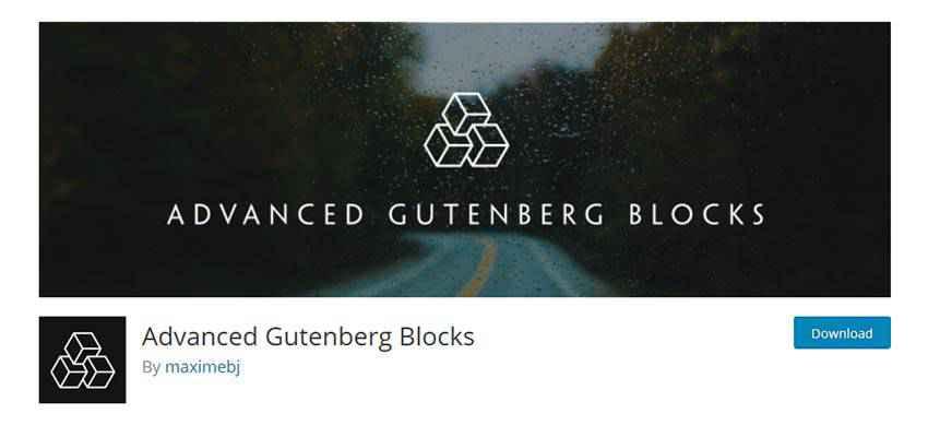 Banner for Advanced Gutenberg Blocks