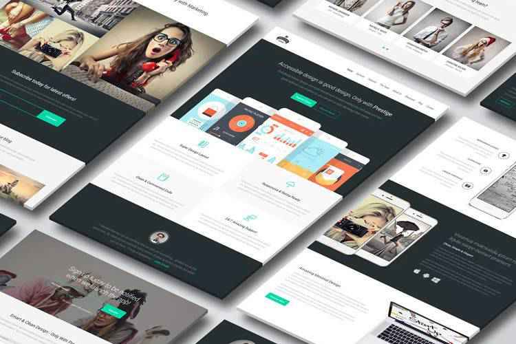 10 Free Landing Page Web Templates for Photoshop