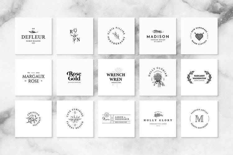 7 Free Collections of Minimally Designed Logo Templates in 2021