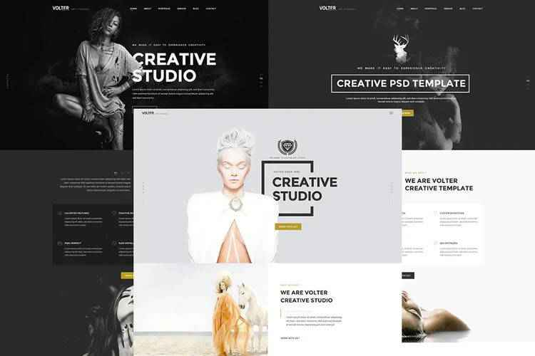 50 Free Web Design Photoshop PSD Templates in 2021