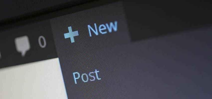 WordPress new post link.