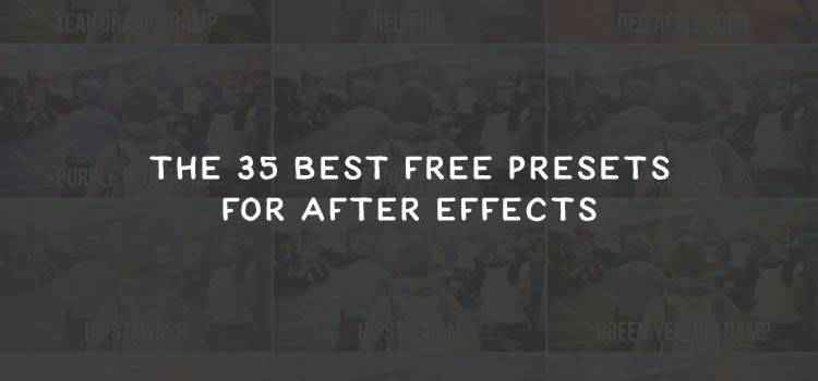 Example from The 35 Best Free Presets for After Effects
