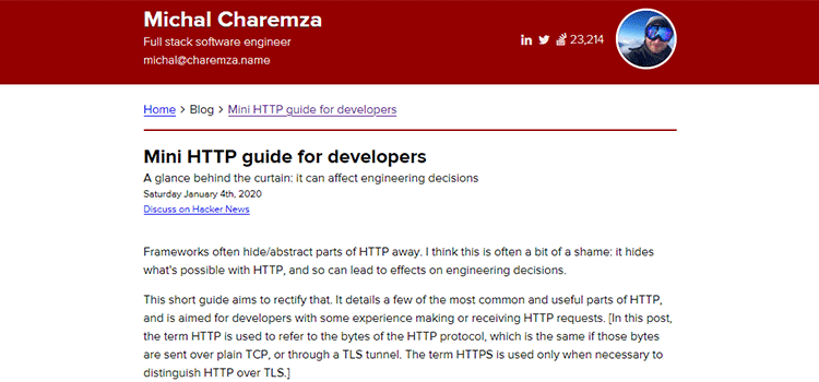Example from Mini HTTP guide for developers