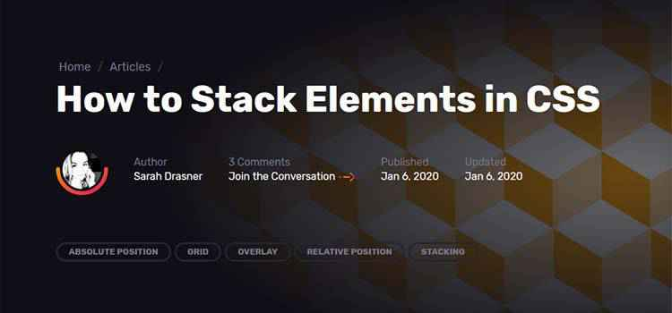 Example from How to Stack Elements in CSS