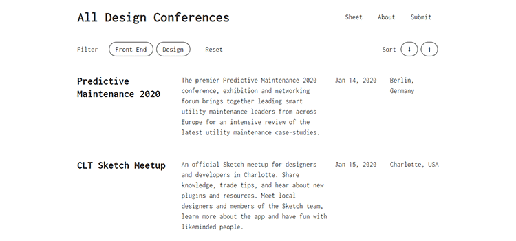 Example from All Design Conferences