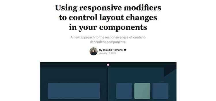 Example from Using responsive modifiers to control layout changes in your components
