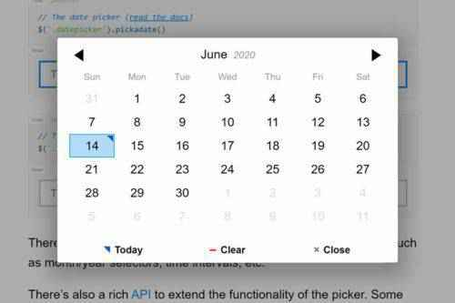 10 Free Open-Source Date Picker Plugins