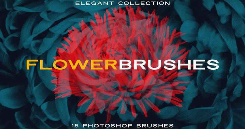 Elegant Flower  free photoshop nature brush sets
