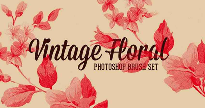 Vintage Floral free photoshop nature brush sets