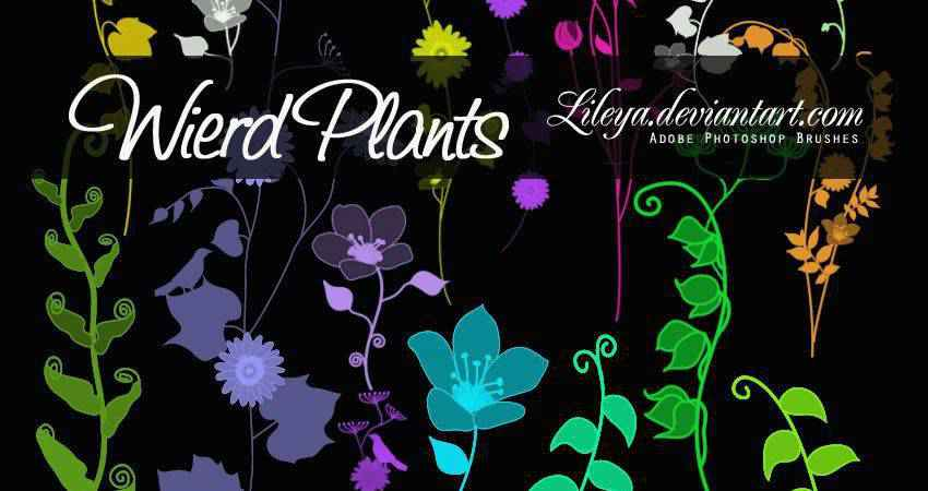Weird Plants free photoshop nature brush sets