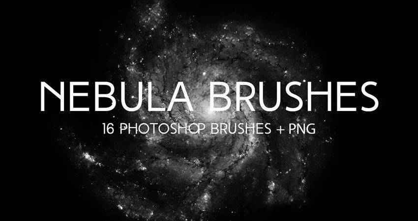 Nebula free photoshop nature brush sets