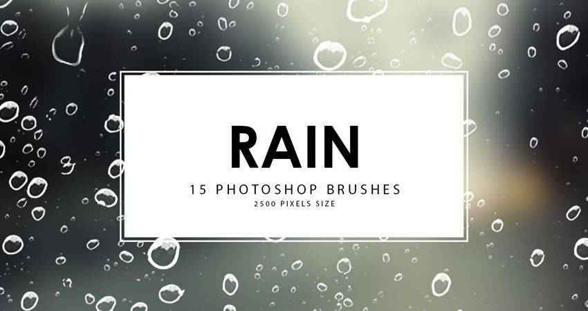 rain free photoshop nature brush sets