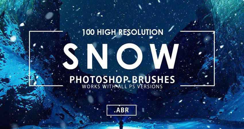 Snow free photoshop nature brush sets