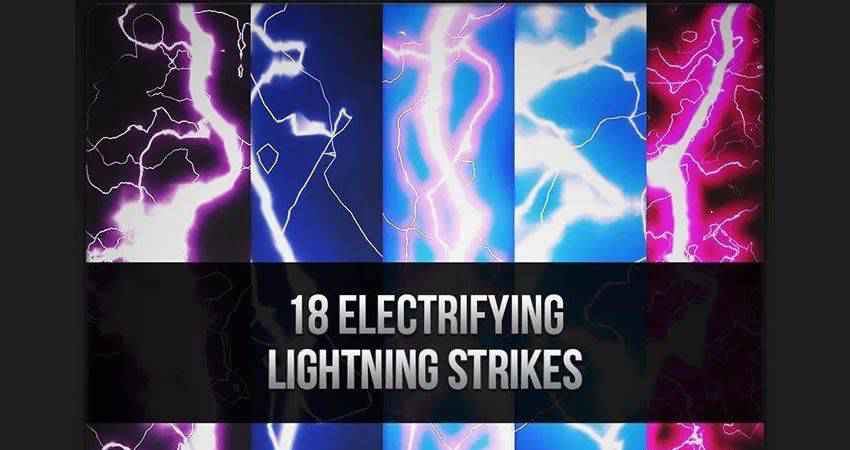 Electrifying Lightning Strikes free photoshop nature brush sets